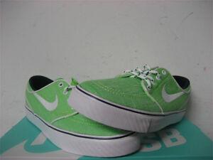 Nike SB Stefan Janoski Flash Lime Green White GS Grade School Sz 5 ... dd7506f09