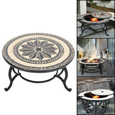 BBQ Outdoor Fire Pit Table Firepit Brazier Garden Stove Wood Burner Patio Heater