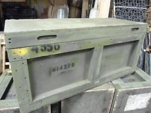 U.S. Military Wood Storage Box (39″ x 18″ x 16″)