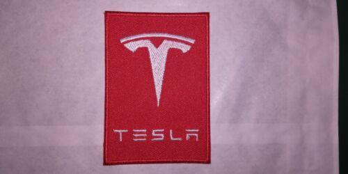 A528 Aufnäher Flicken Tesla 5,5 8 CM