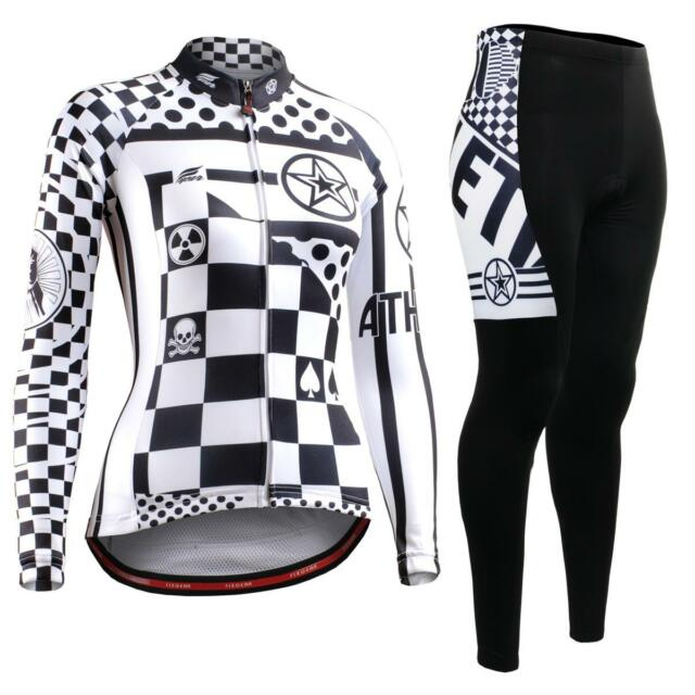 FIXGEAR CS-W601-SET Women's Cycling Jersey & Padded Pants MTB Bike BMX Roadbike