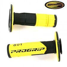 Pro Grip 801 Yellow Black Handlebar Grips Fits Yamaha Dirt Bikes Yz Wr TTr