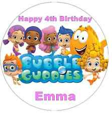 """Bubble Guppies Personalised Cake Topper 7.5"""" Edible Wafer Paper Birthday Party"""