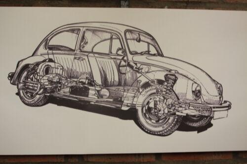 VW Beetle Type 1 Neuf Grand PVC Heavy Duty Work Shop Bannière Garage classique Show