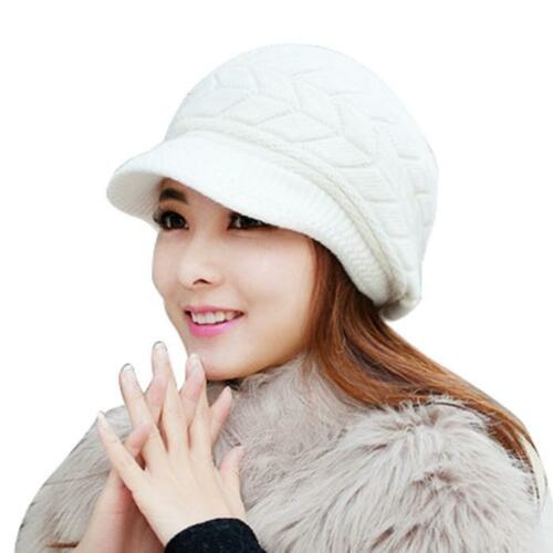 Femmes Chapeau Hiver skullies bonnets tricot chapeaux de fourrure de lapin Cap Cashmere Caps Chapeaux
