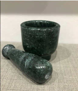 """3""""x3/""""x3/"""" Small GENUINE HIMALAYAN Large Marble Pestle /& Mortar Set Heavy"""