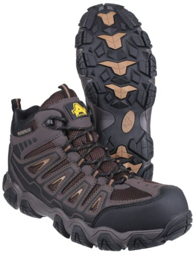 Mens Brown Rockingham Leather As801 Boots Safety Hikier Waterproof Amblers qBpf7wnn