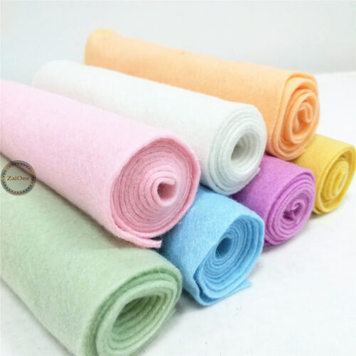 Lot 7 Rolls Bundle Pack SOFT Craft Felt Fabric Non-woven Blend Sheets Patchwork