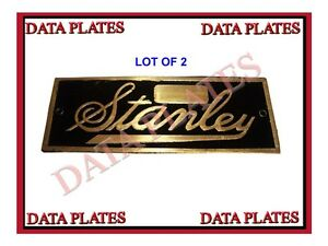 LOT-OF-2-STANLEY-STEAMER-DATA-PLATE-1897-1927-ACID-ETCHED-BRASS
