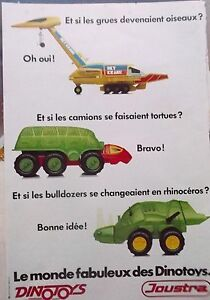 Advertising-Press-Toys-Dinotoys-Of-Joustra-IN-1981-Ref-5212