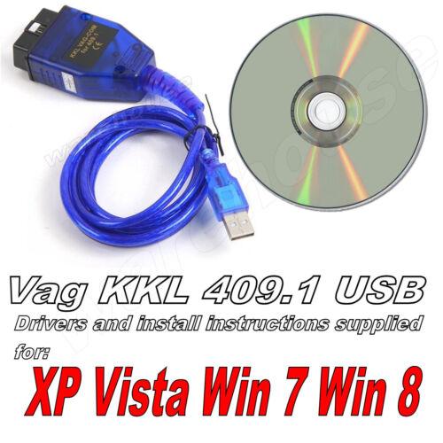 USB COM PORT OBD2 II KKL ECU DIAGNOSTIC CABLE LEAD VCDS-LITE //409