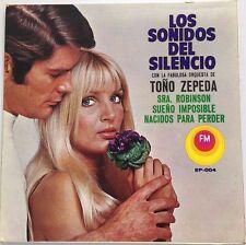 """LA FABULOSA ORQ. DE TOÑO ZEPEDA LOS SONIDOS DEL SILENCIO MEXICAN 7"""" EP PS"""