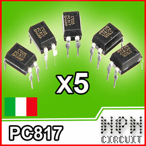 5x PC817 INTEGRATO FOTOACCOPPIATORE  optocoupler x5 pezzi