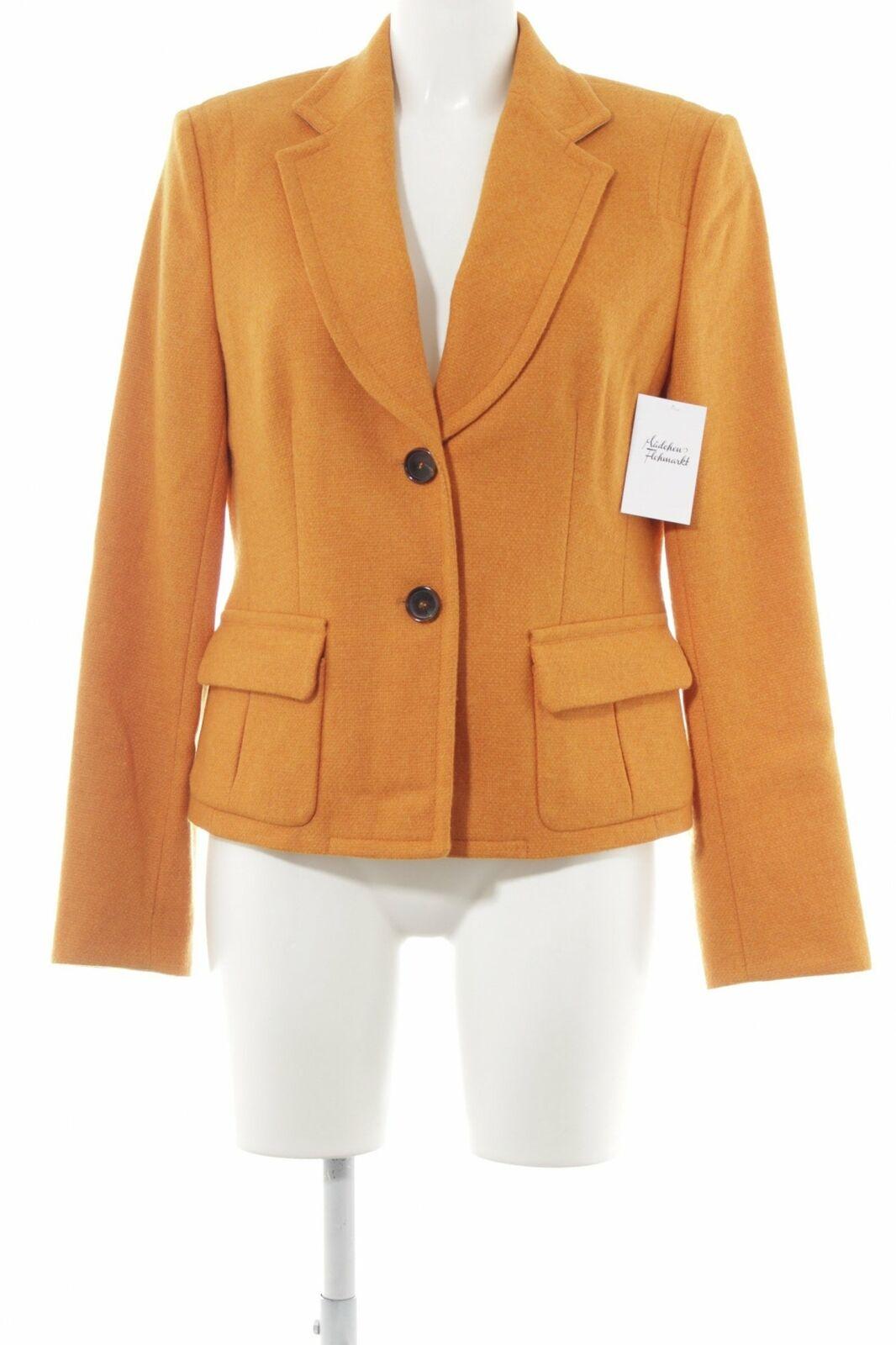 René LEZARD in lana-Blazer Arancione Scuro Stile Classica DONNA TG. de 40