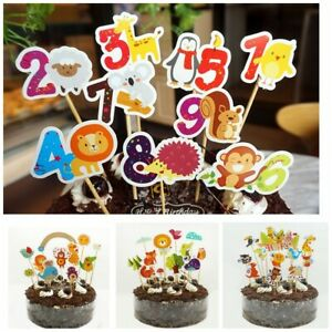 Remarkable Animal Zoo Birthday Cake Toppers Insert Card Party Wedding Cup Funny Birthday Cards Online Amentibdeldamsfinfo