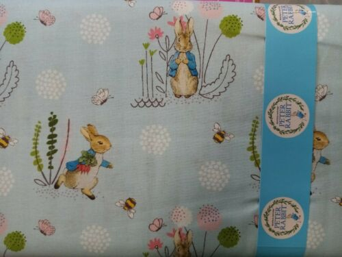 Craft Algodón Peter Rabbit Luz Azul Diente de León Abejas Flores 100/% algodón Libre P/&P