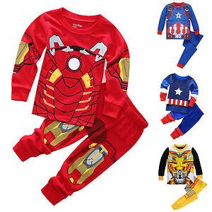 2pcs-Boys-Toddler-Kids-Superhero-Outfits-Set-Pajamas-Sleepwear-Pyjamas-Nightwear