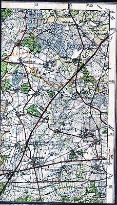 SchöN Sottrum Winkeldorf Bötersen 1952 Kl. Teilkarte/ln. Wehldorf Gyhum Taaken Nartum Neueste Technik