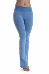 37cd991187cc7 T-PARTY MINERAL WASHED FLARED YOGA PANTS BLUE CJ7477 BLUE   eBay