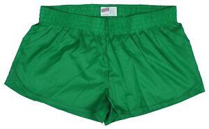 Kelly-Green-Shiny-Short-Nylon-Shorts-by-Soffe-Size-Large