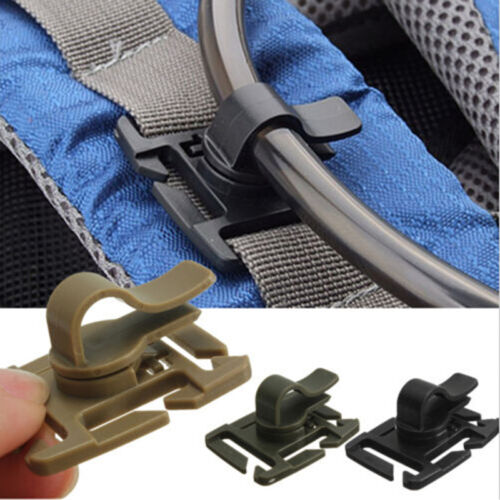 2PCS Hydration Bladder Trap Tube Strap Hose Clip For Fits Molle Camelbak To JO