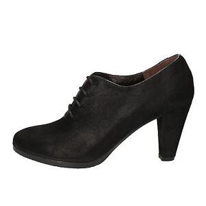 women's shoes CALPIERRE 5,5 (EU 35,5) ankle boots black suede AD566-B