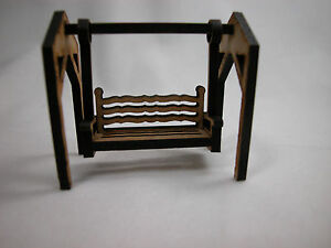 Dollhouse miniature 1 4 scale 1 48 swing set for yard or for Mini swing set