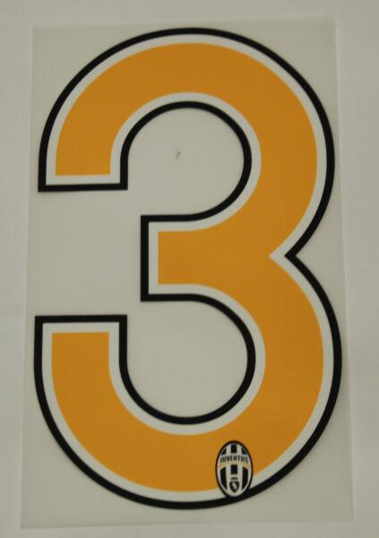 Bellissimo Juventus F.c. Grafiche Ufficiali Numero 3 Stagione 06/ 07 Per Maglia Home