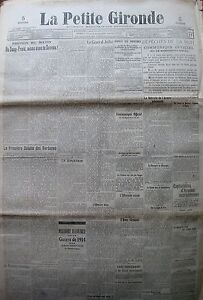 WW1-the-General-Joffre-Offensive-Belgian-Antwerp-Dispatches-Petite-Gironde-1914