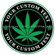 "3"" Medical Marijuana Decal Sticker Custom Vinyl Text Cannabis Decal Stickers"