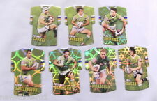 #3. LOT OF SEVEN 2009 RUGBY LEAGUE FOIL TEAM JERSEY CARDS - CANBERRA RAIDERS