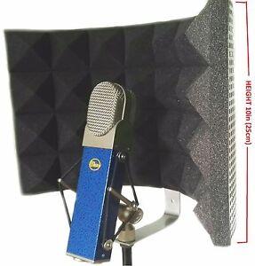 studio microphone shield diffuser isolation sound absorber foam panel shield mic ebay. Black Bedroom Furniture Sets. Home Design Ideas