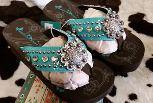 5e353f229 Details about NEW Womens Montana West Bling Rhinestone Bling Sandals Flip  Flops Size 67891011