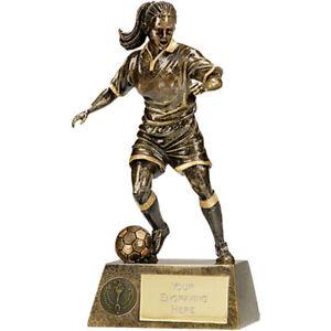 Pewter//Gold *FREE ENGRAVING* Football Trophy 15cm
