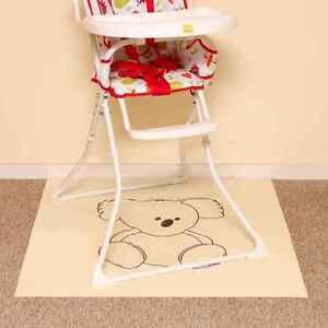 Image is loading Baby-Feeding-Splash-Mat-Waterproof-Perfect-under-highchair-  sc 1 st  eBay & Baby Feeding Splash Mat Waterproof Perfect under highchair Picnic ...