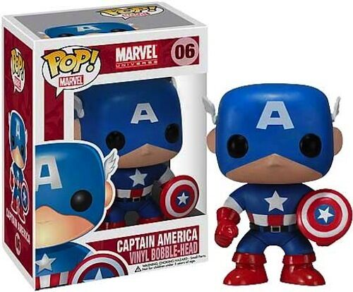 Captain America Pop! Vinyl Bobble-Head Figure * NEW In Box * Funko * Marvel