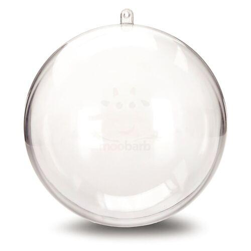 JfM 16cm Clear Plastic Craft Ball Acrylic Transparent Sphere Bauble