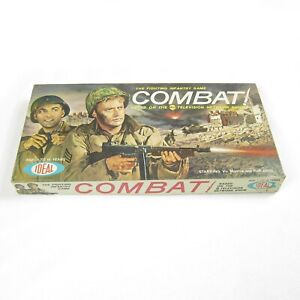 Vintage-1963-Combat-Board-Game-ABC-TV-Show-Fighting-Infantry-Ideal-Toy-COMPLETE
