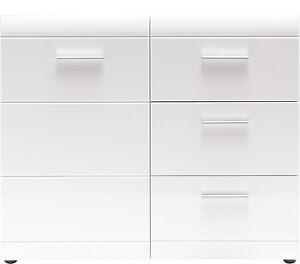 kommode mehrzweckkommode schubladenkommode flurkommde mod gm929 wei hochglanz ebay. Black Bedroom Furniture Sets. Home Design Ideas