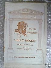 1933 Theatre Programme JOLLY ROGER- Rita John, George Robey,W Leigh,S Mackenzie