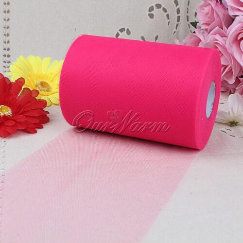 "Tutu Tulle Rolls 6/"" wide x 100 Yards Craft Fabric Wedding Netting 100/% Nylon"