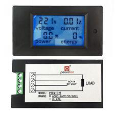 Ac 80260v 20a Lcd Digital Volt Watt Power Energy Meter Panel Voltmeter Ammeter