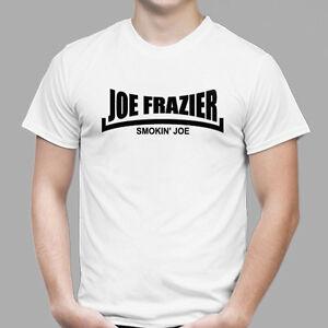 8856389e75c6 New Joe Frazier - Smokin' Joe Boxing Legend Men's White T-Shirt Size ...