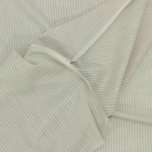 0,5m lino sustancia gris claro rayas ligeramente fina METERWARE