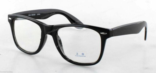 c169307b496 Clear Lens Black Frame Cat Eye Glasses Designer Fashion Nerd Geek Mens  Womens