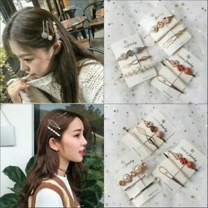 Fashion-Pearl-Hair-Clip-Hairband-Comb-Bobby-Pin-Barrette-Hairpin-Headdress-3PCS
