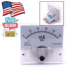 Analog Panel Amp Current Ammeter Meter Gauge 85c1 0 50ma Dc In Us Stock