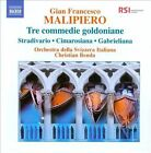 Gian Francesco Malipiero: Tre Commedie Goldoniane (CD, Jan-2011, Naxos (Distributor))