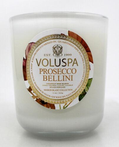 Voluspa Coconut Wax Blend 1 Wick Prosecco Bellini Candle 12 Ounce
