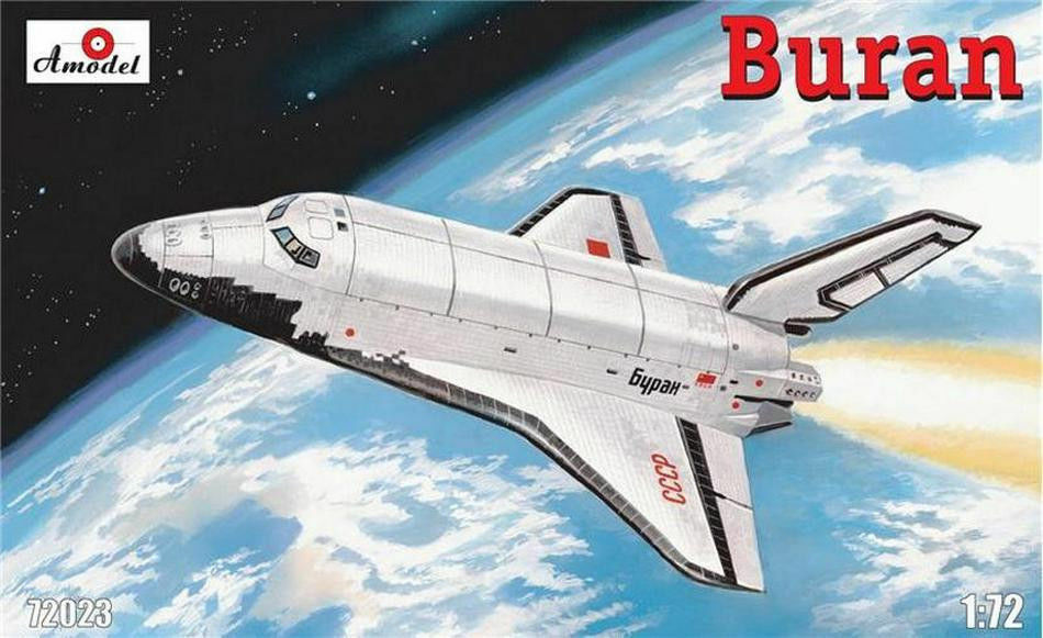 Amodel 72023 - 1 72  Buran  Soviet Shuttle, scale plastic model kit